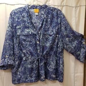 Ruby Rd. long sleeve blouse Size 22W